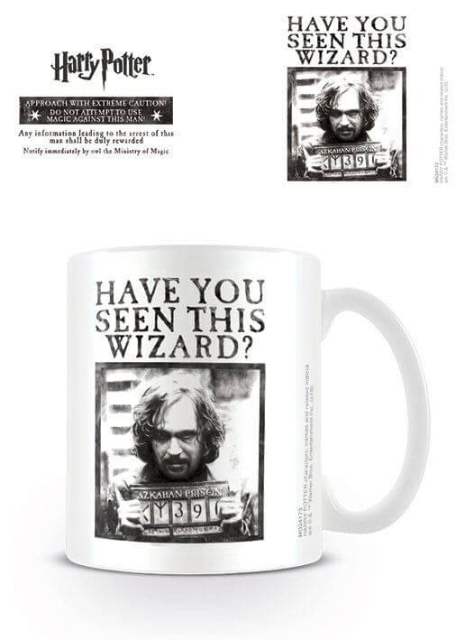 "MUG SIRIUS BLACK ""HAVE YOU SEEN THIS WIZARD ?"" - HARRY POTTER"
