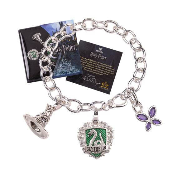 BRACELET CHARMS LUMOS SERPENTARD - HARRY POTTER