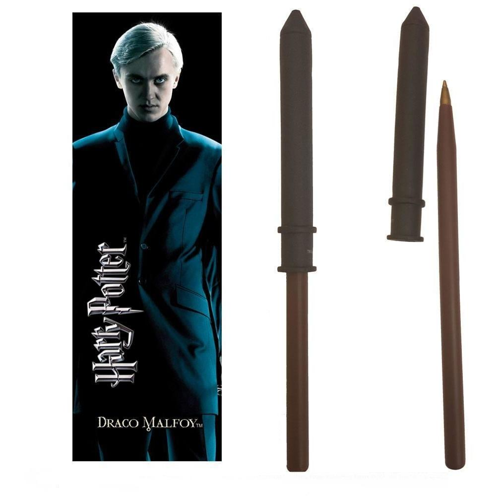 STYLO BAGUETTE & MARQUE-PAGE DRAGO MALEFOY  - HARRY POTTER