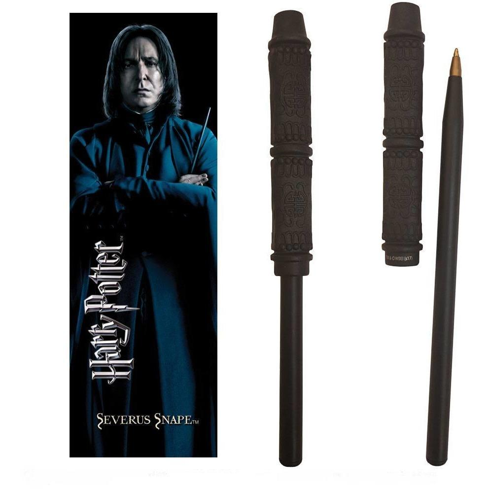 STYLO BAGUETTE & MARQUE-PAGE SEVERUS ROGUE - HARRY POTTER