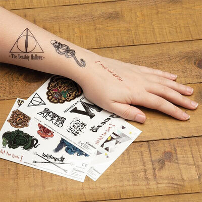 LOT TATOUAGES TEMPORAIRES - HARRY POTTER - la boutique du sorcier