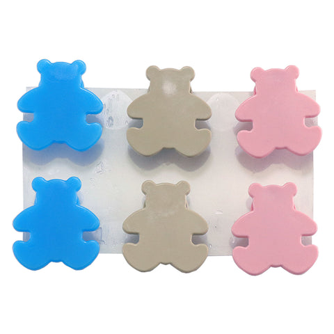 StikkiSHAPES™ Beige/Blue/Pink Teddy Bear, 6ct - StikkiWorks