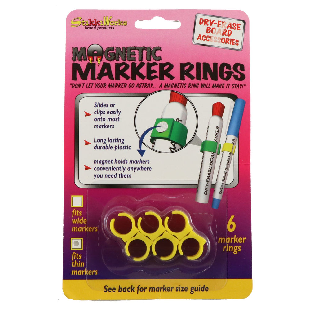 MAGNETIC MARKER RINGS - SMALL - 6/CARD - StikkiWorks