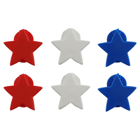 StikkiSHAPES™ Red/White/Blue Stars, 6ct - StikkiWorks