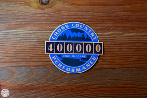 400K High Mileage Badge Sticker - Cross Country Performance