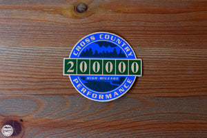 200K High Mileage Badge Sticker - Cross Country Performance
