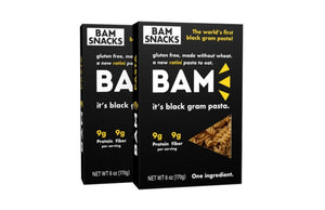 BAM Snacks Black Gram Pasta - Rotini (Pack of 2)