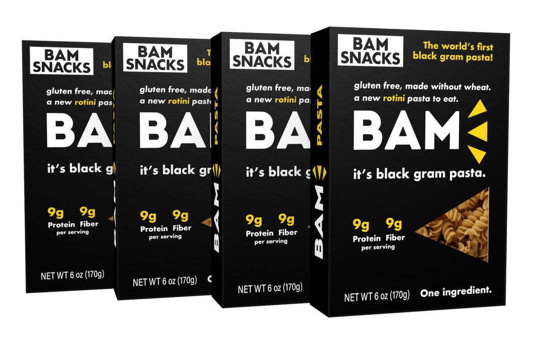 Black Gram BAM Pasta - Rotini (Pack of 4)
