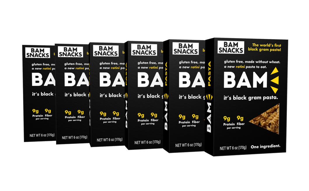 Black Gram BAM Pasta - Rotini (Pack of 6)