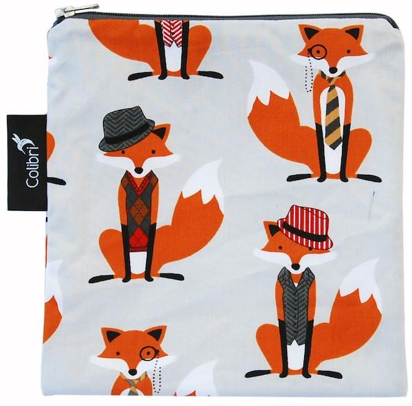 Foxes | Reusable Snack Bag - Large