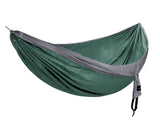 Double Ripstop Hammock | Green & Grey
