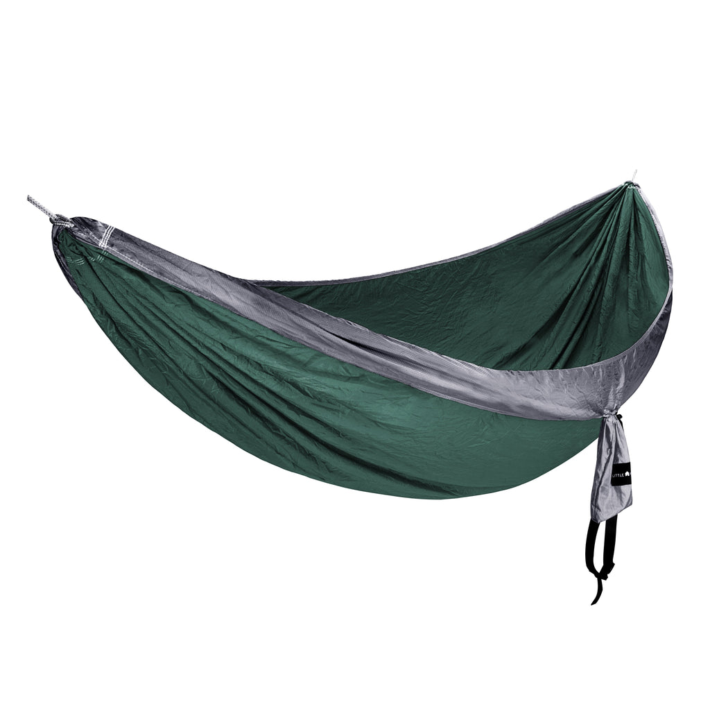 Single Ripstop Hammock | Green & Grey