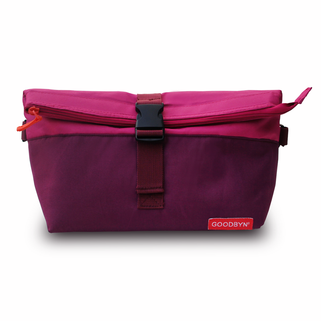 Magenta Rolltop Insulated Lunch Bag