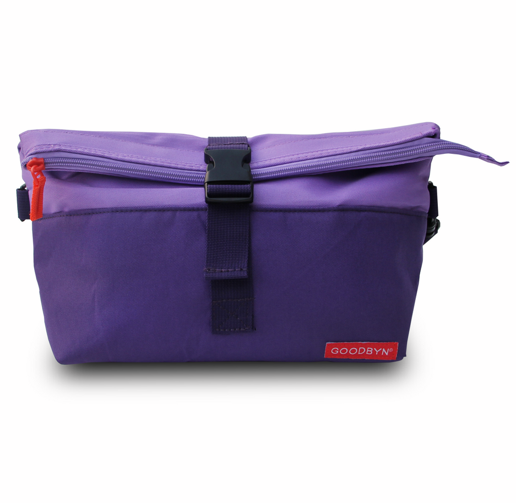 Purple Rolltop Insulated Lunch Bag
