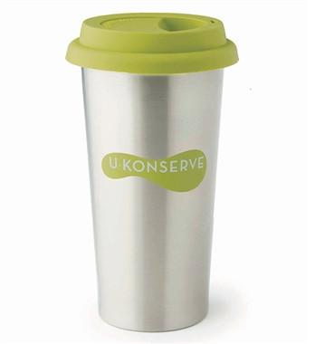 Lime Insulated Coffee Cup