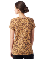 Alternative Apparel Ideal Printed Eco-Jersey T-Shirt in Leopard - Whim BTQ