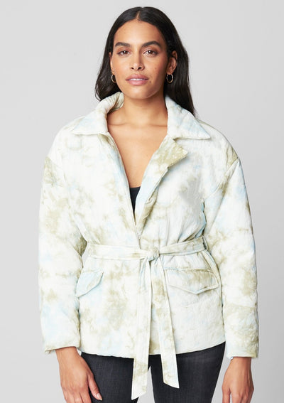 Blank NYC Quilted Wrap Jacket in Perfect Day