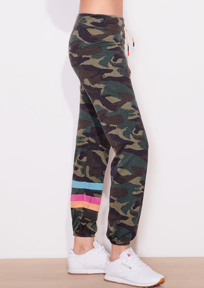 Sundry Striped Jogger in Dark Camo - Whim BTQ