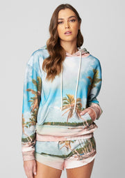 Blank NYC Printed Beach Scene French Terry Sweatshirt - Whim BTQ
