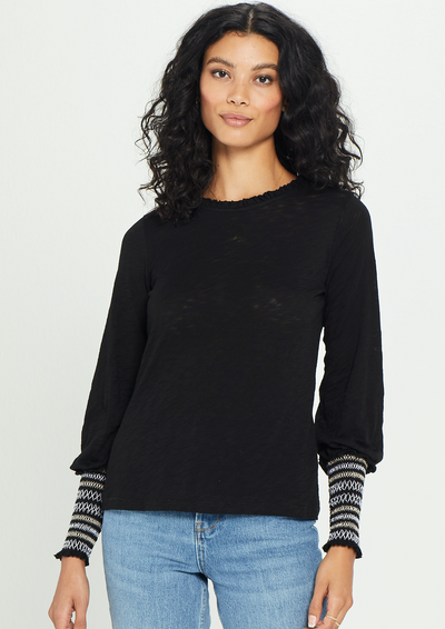 Goldie Long Sleeve Honeycomb Top - Whim BTQ