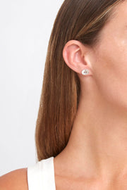 Chan Luu Signature Button Earrings In Silver - Whim BTQ