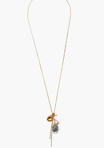 Chan Luu Charm Necklace in WHITE PEARL MIX - Whim BTQ