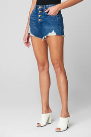 Blank NYC Barrow Vintage High Rise Denim Short With Exposed Buttons - Whim BTQ