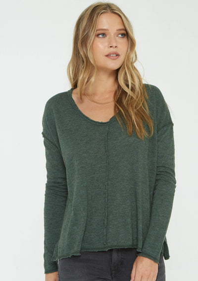 Project Social T Get Up & Go Long Sleeve In Forest - Whim BTQ