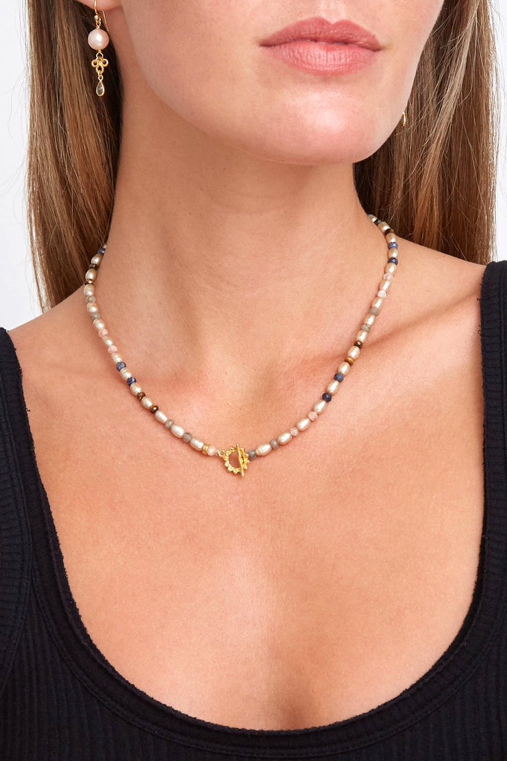 Chan Luu Champagne Pearl Mix Necklace - Whim BTQ