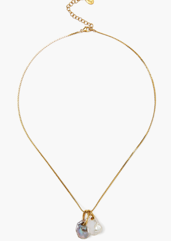 Chan Luu Minimal Charm Necklace in WHITE PEARL MIX - Whim BTQ