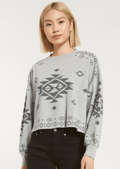 Z Supply LEA SWEATSHIRT in Grey - Whim BTQ