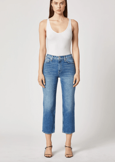 Hudson Remi High-Rise Straight Cropped Jean in Lullaby - Whim BTQ