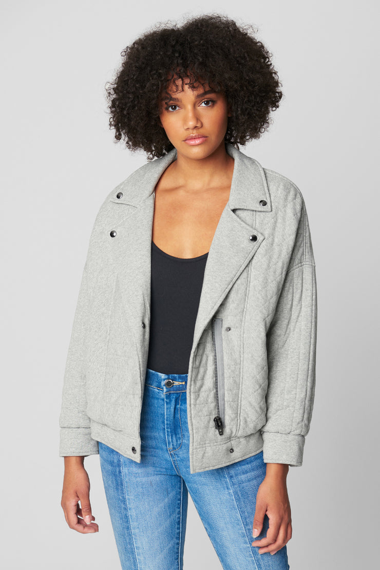 Blank NYC Quilted Moto Jacket in Easy Day