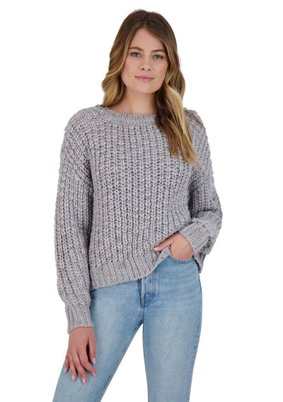BB Dakota BREAKFAST IN BED SWEATER in Dusty Blue - Whim BTQ