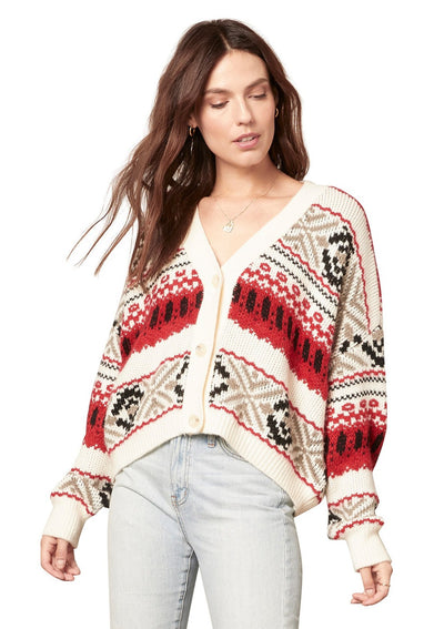 BB Dakota BACK COUNTRY CARDIGAN in Ivory - Whim BTQ
