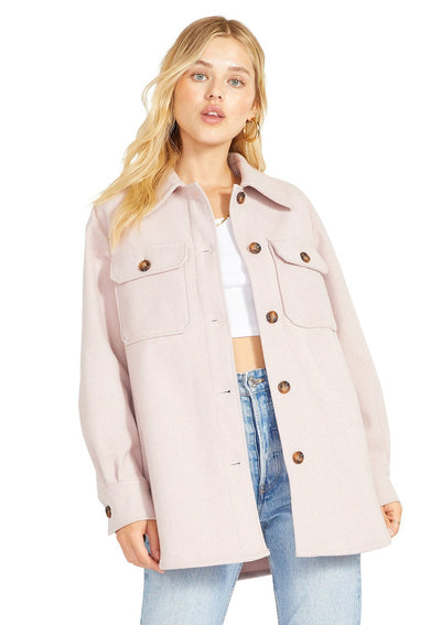 BB Dakota That's Just It Jacket in Pale Pink - Whim BTQ