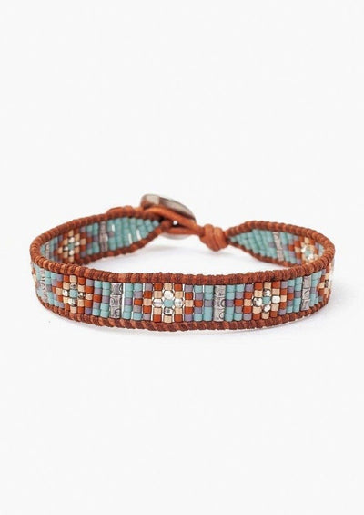 Chan Luu Seafoam Mix Seed Bead Single Wrap Bracelet