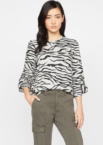 Sanctuary Wild Love Tee Heather Zebra - Whim BTQ