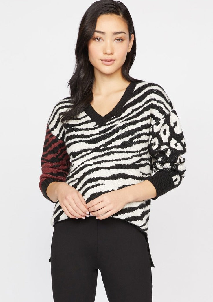 Sanctuary Welcome To The Jungle Sweater in Multi Animal - Whim BTQ