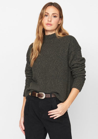 Sanctuary Teddy Mock Sweater in Forest - Whim BTQ