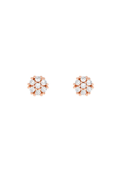 Girls Crew Teeny Tiny Circle Studs in Rose Gold - Whim BTQ
