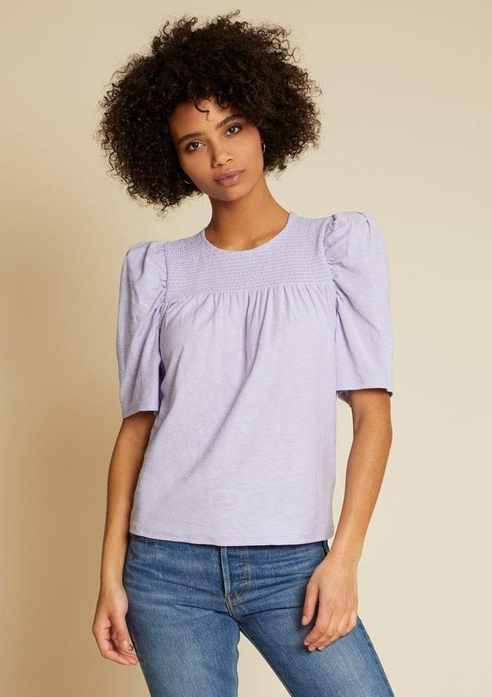 Nation LTD FIONA CONTRAST SMOCK TEE in Violet - Whim BTQ