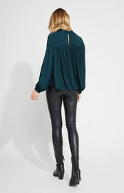 Gentle Fawn MIRANT TOP in Fir Green - Whim BTQ