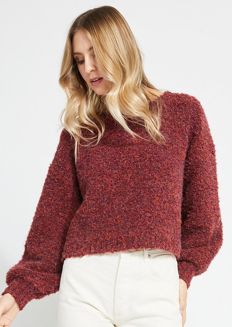 Gentle Fawn MARIN SWEATER in Cranberry - Whim BTQ