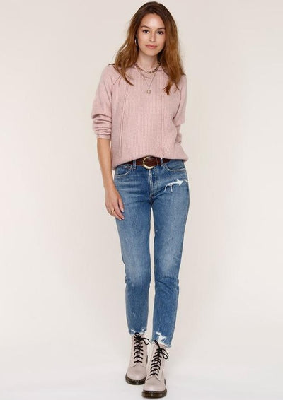Heartloom Narella Sweater in Blush - Whim BTQ