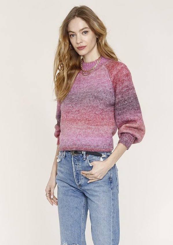 Heartloom Kallie Sweater in Plum - Whim BTQ
