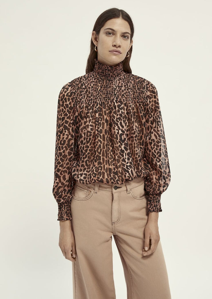 Scotch & Soda Printed Top With Lurex