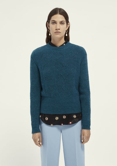 Scotch & Soda Fuzzy Knit with Cable Stitches - Whim BTQ