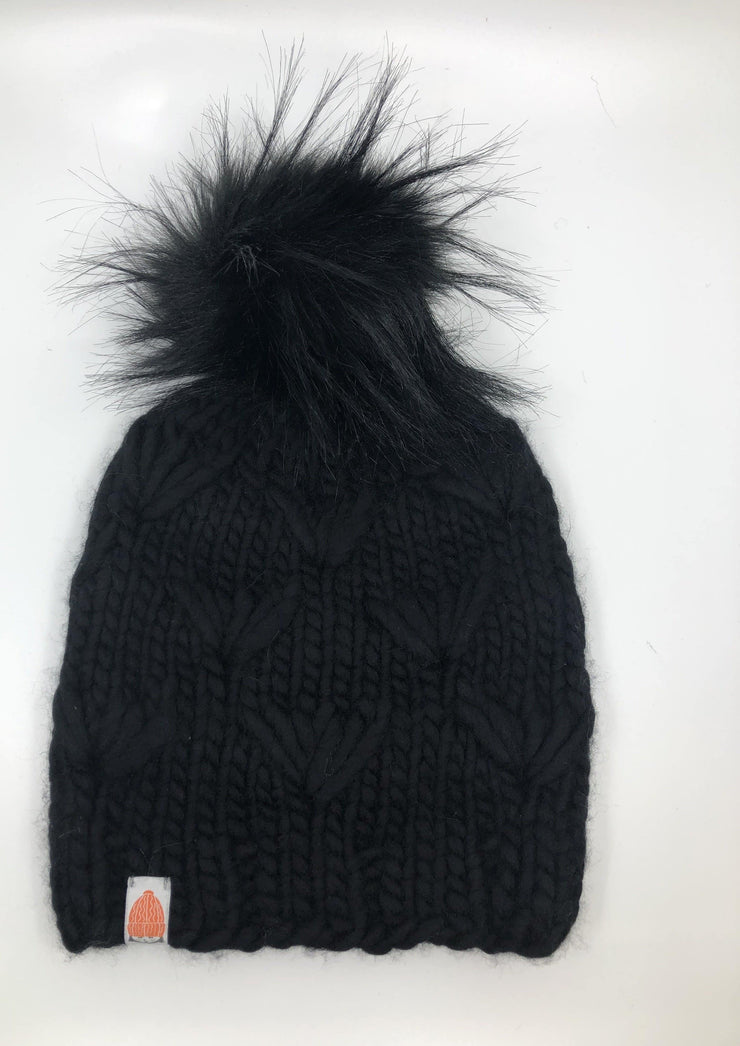 Sh*t That I Knit Motley Beanie in Black List - Whim BTQ