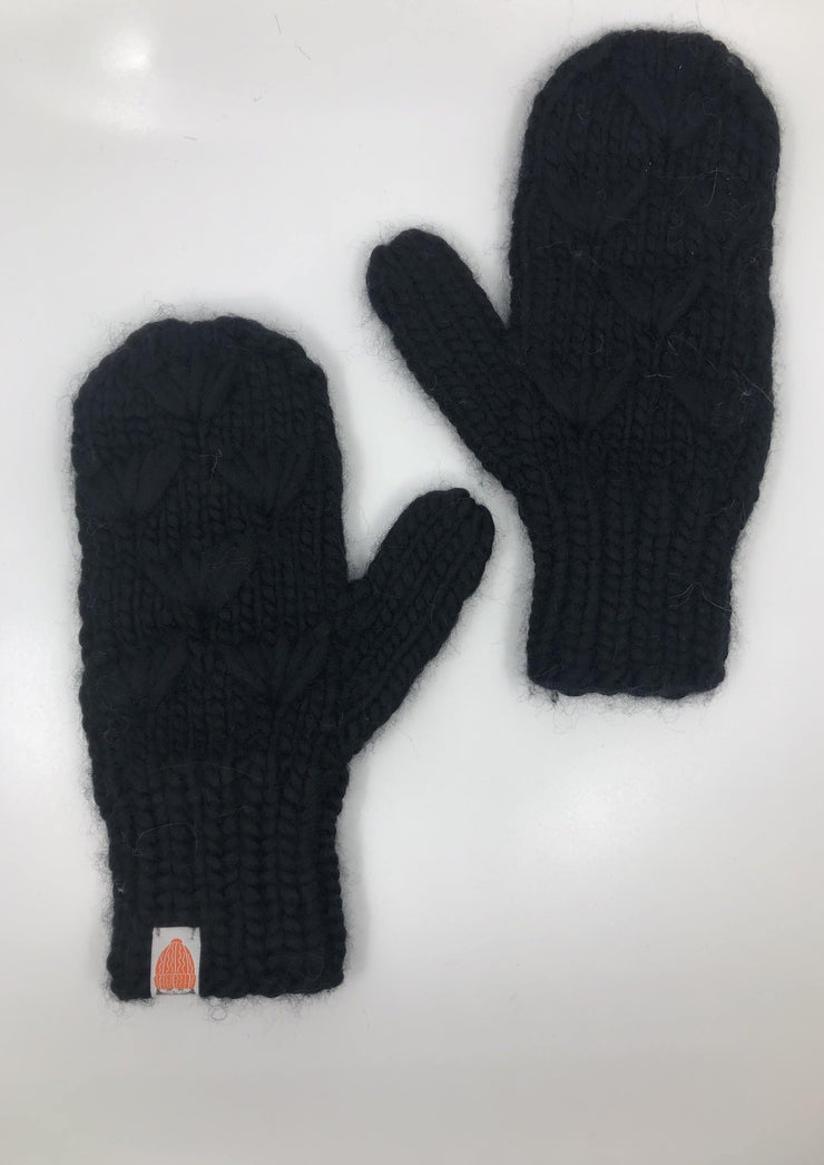 Sh*t That I Knit Motley Mittens in Blacklist - Whim BTQ
